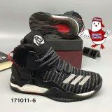 La tour VII du Mens D Rose 7 amplifient des chaussures de basket-ball de blanc gris