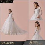 Heißer China-Lieferanten-langes Hülsen-Hochzeits-Kleid
