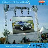 P4.81 Curvo Exterior/LED flexíveis Ecrã de vídeo para eventos de bicicleta