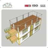 Camera prefabbricata modulare personalizzata di due piani della costruzione del contenitore per il commercio