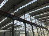 Almacén prefabricado del marco de acero del calibrador de la luz del taller