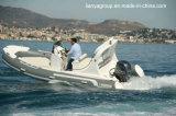 Bateau gonflable rigide Hypalon de bateau de côte de luxe de Liya 5.2m