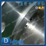 Vanne papillon excentrée de disque de triple chaud de vitesse de Didtek