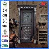 Einzelne Panel-Antike-festes Holz-geschnitzte Innentür