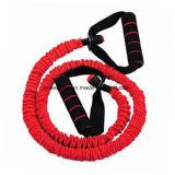 Colore rosso domestico dell'espansore della cassa della corda della fascia di resistenza della strumentazione di addestramento di ginnastica di forma fisica