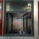 ألومنيوم شباك نافذة مع مزدوجة يقسى زجاج