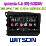 """Witson 9"""" на большой экран Android 6.0 DVD для Honda гражданского низкий 2012-2014 (левостороннее рулевое управление)"""