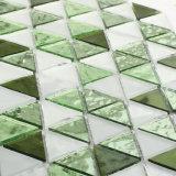 지면을%s 녹색 부엌 목욕탕 스테인드 글라스 모자이크 타일