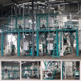 máquina da fábrica de moagem de milho do milho do PLC 30t/D