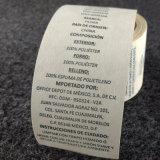 Escritura de la etiqueta de encargo impresa de las etiquetas engomadas de la ropa