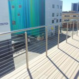Maison de campagne de clôture du Corridor de câble en acier inoxydable 316 Post rambarde
