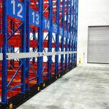 Cremalheira móvel elétrica do armazém para o armazenamento da pálete com trilho do assoalho