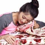Far-infrared暖房のフランネル毛布