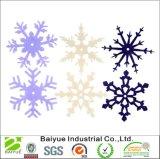 30PCSパックの新しく標準的で多彩なフェルトの雪片の装飾