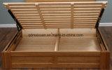 固体木のベッドの現代ダブル・ベッド(M-X2334)