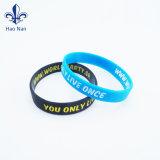 Pulseira Debossed personalizados Personalize bracelete de Silicone