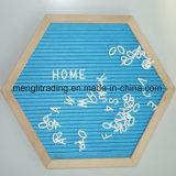 Kundenspezifischer Zoll-Filz-Zeichen-Vorstand der Größen-10X10 mit Plastikzeichen