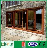 Porte Bi-Fold en aluminium intérieure des graines en bois