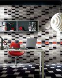 Schwarzes 3X6inch/7.5X15cm glasierte glatte abgeschrägte keramische Wand-Untergrundbahn-Fliese-Badezimmer-/Küche-Dekoration