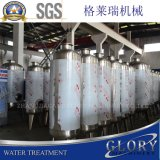 El agua potable purifica la planta de tratamiento