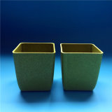 Seeding-Potenziometer-Garten-Pflanzenhalter-Bambusfaser-Blumen-Potenziometer