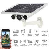 cámara al aire libre sin hilos incorporada del IP de la energía solar del P2p Onvif WiFi de la batería de las cámaras de vigilancia de la energía solar de la visión nocturna 720p