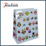 Diseño personalizado de precio de fábrica Animal Glitter bolsa de papel con Hangtags