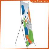 Plegable barato Póster de impresión de pantalla Publicidad Banner X ajustable Stand