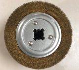 Rueda de cepillos industriales personalizados de madera cepillo para el desbarbado pulido