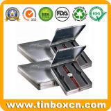 Caixa retangular do estanho do metal do relógio do golfe para o empacotamento relativo à promoção dos presentes