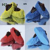 De plástico desechables PE/CPE Azul uso médico Non-Skid Cubrezapatos