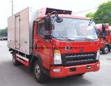 Sinotruk HOWO 트럭 5 톤 냉장고 트럭 6 바퀴 냉장고