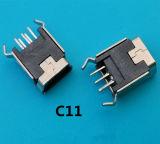 큰 수요 제품 90 정도 5 Pin 소형 USB 소켓