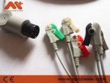 Direktes Nellcor schließen ECG Kabel mit Leitungsdrähten an