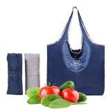 Homens Mulheres Portátil Reutilizável Sacola de Compras Compras Ecológica Saco de ombro Sacola Bolsa de viagem para Sacola de Compras de bolsas 3PCS