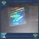 Holograma personalizado transparente superpuesto con el número negro y de fácil Destory