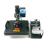 5 en 1 máquina manual de la prensa de la camiseta de la piedra de la tela de la taza del vector de la mano