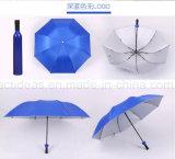 Ombrello di volta di Multi-Colori tre poco costosi promozionali di figura della bottiglia di Adversting
