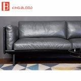 Nuovo nei disegni stabiliti Nappa Leathe del sofà genuino nero di Hotsale per l'ufficio 2017