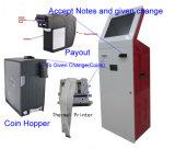 Tela requisitando do quiosque do pagamento da máquina/Bill do quiosque do pagamento do serviço do OEM 15.6/17/19/22/32/43self/de toque do pagamento em dinheiro leitor de cartão