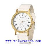 남녀 공통을%s 가진 합금 가죽 시계 승진 사업 시계 (WY-1083GA)