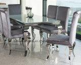 Meubles modernes de salle à manger/meubles à la maison contemporains en métal pour des meubles d'événement de mariage de restaurant de banquet de salle à manger/de présidence de Tableau acier inoxydable