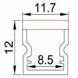 extrusion de profil d'aluminium de 8.5*12mm pour cheminer la lumière de bande de DEL