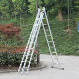 3 Vias de evacuação de incêndio escadas e degraus da escada dobrável de alumínio Multiuso Compacto