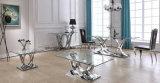 2017 Nouveau modèle de style européen de grande taille le verre trempé clair Table à manger