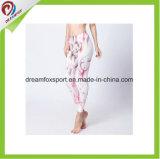 صنع وفقا لطلب الزّبون نظام يوغا لباس مع طباعة لياقة زاويّة نساء نظام يوغا [لغّينغس]