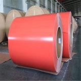Blad /Coil van het Aluminium van pvc het Rode Witte Zilveren Vooraf geverfte Kleur Met een laag bedekte