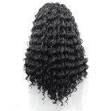 De qualité perruque synthétique d'avant de lacet de cheveu d'onde profonde longtemps