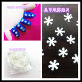 Scintillement de forme de neige pour l'art de clou et la couleur de blanc de série de couleur de perle de beauté de clou