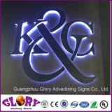 LED LED retroiluminado de aço inoxidável Carta sinal para iluminação de LED